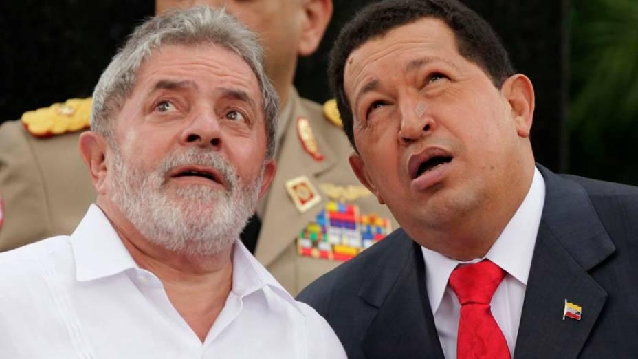 Lula com Hugo Chavez em Miraflores, Caracas, Venezuela – 06/08/2010