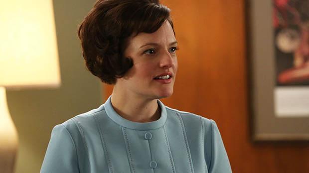 Peggy Olson (Elisabeth Moss), no seriado Mad Men