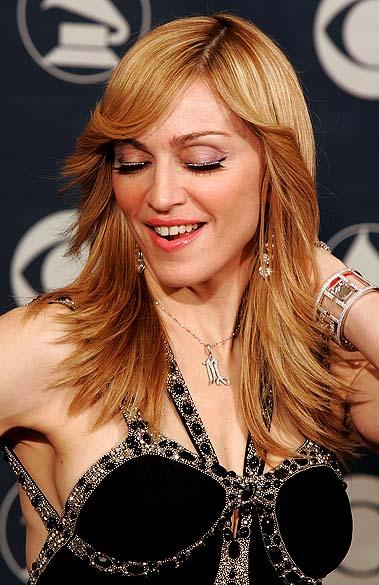"""Madonna durante o """"48º Grammy Awards"""" em Los Angeles, em 2006"""