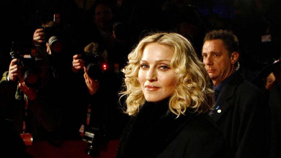 """Madonna durante o """"Festival de Cinema Berlinale"""", em Berlim, em 2008"""