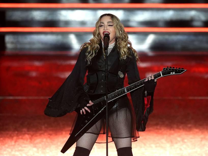 Madonna em show na cidade de Melbourne, na Australia