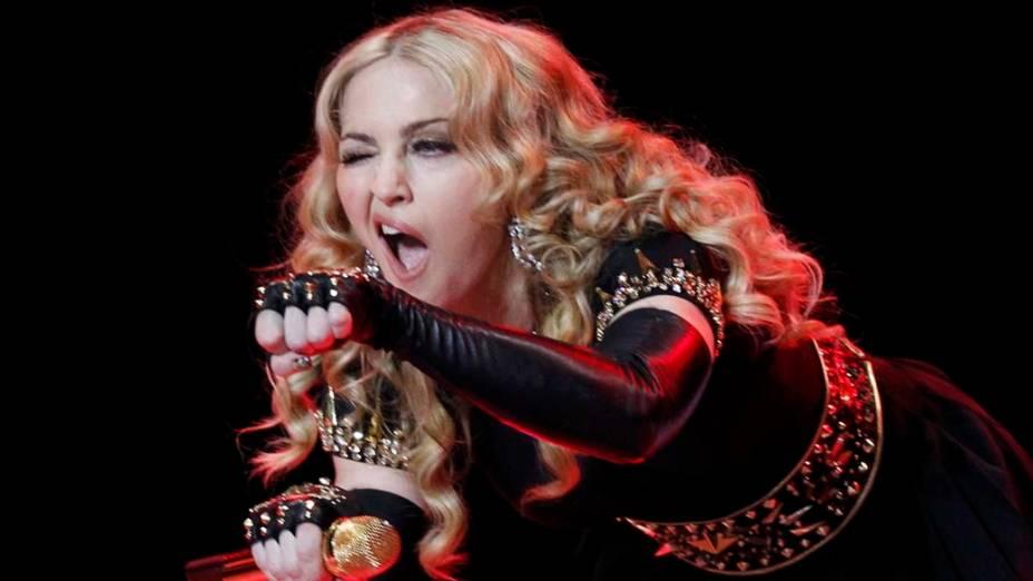 Madonna, durante apresentação do Superbowl 2012