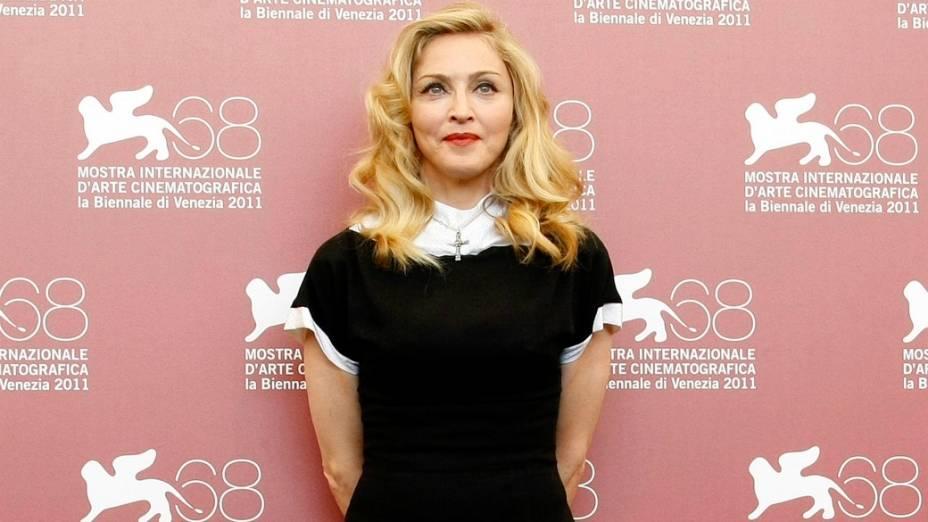 Madonna no lançamento de W.E, segundo filme dirigido pela cantora, no Festival de Veneza