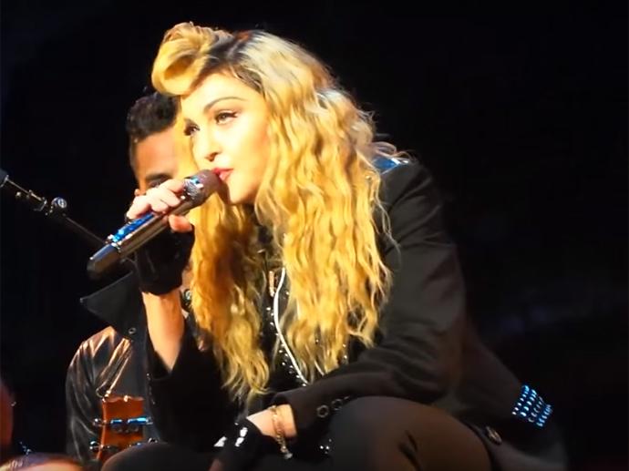 Madonna durante show em Manchester