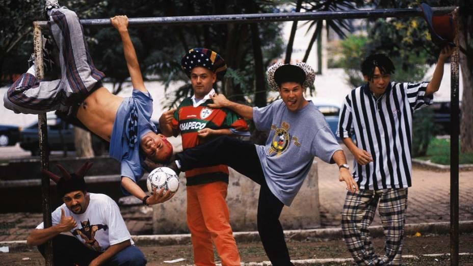 Integrantes do conjunto Mamonas Assassinas - 1995