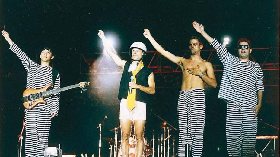 Último show do conjunto Mamonas Assassinas, Brasília - 02 de março de 1996