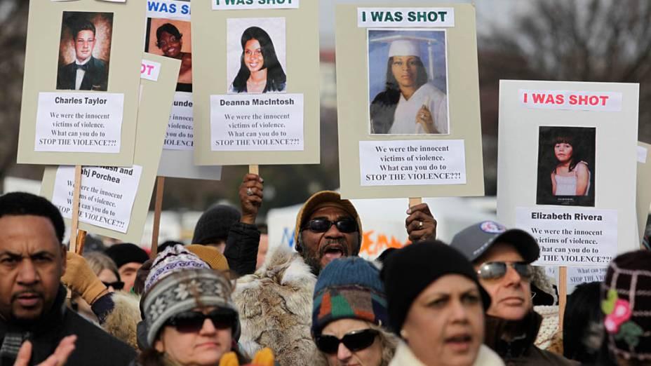 Marcha em Washington a favor do controle de armas nos EUA