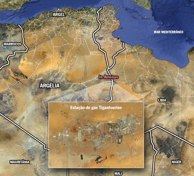 Campo de exploração de gás de In Aménas, na Argélia