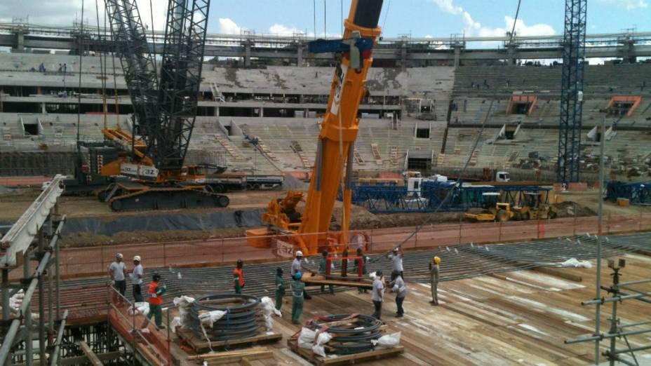 Obras no Maracanã: segundo o governo do estado, trabalho está 70% concluído