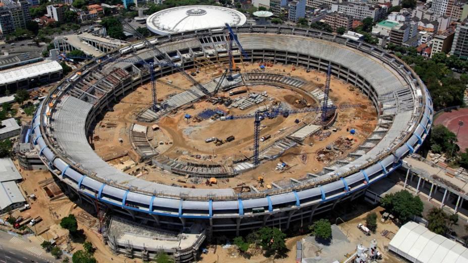 Foto aérea do Maracanã: obras serão abertas à visitação