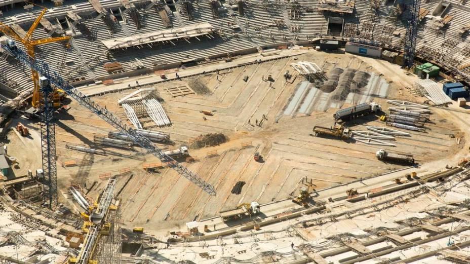 As obras do Maracanã em dezembro de 2012