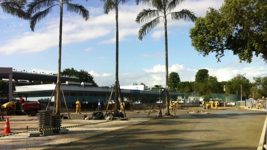Obras na entrada do Maracanã - 23/01/2013