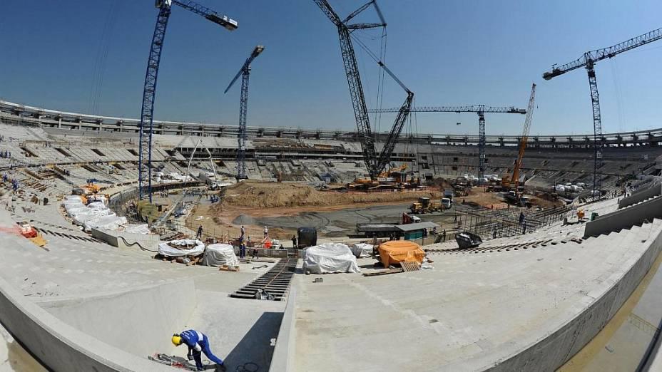 Maracanã: estádio já está com a estrutura das arquibancadas pronta