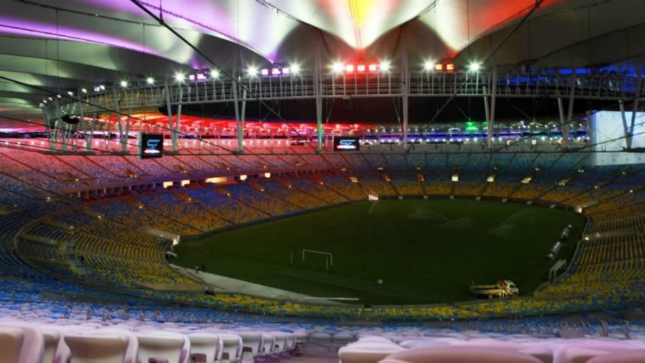 A nova iluminação decorativa do Maracanã