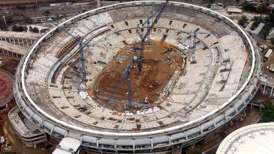 Maracanã: imagem aérea mostra o andamento das obras