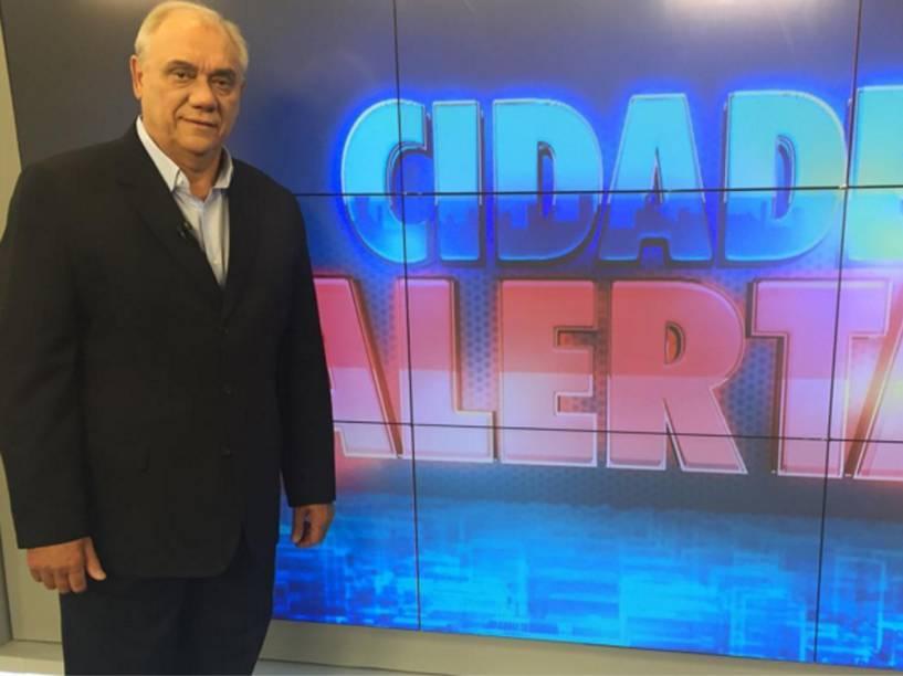 O apresentador do 'Cidade Alerta', Marcelo Rezende