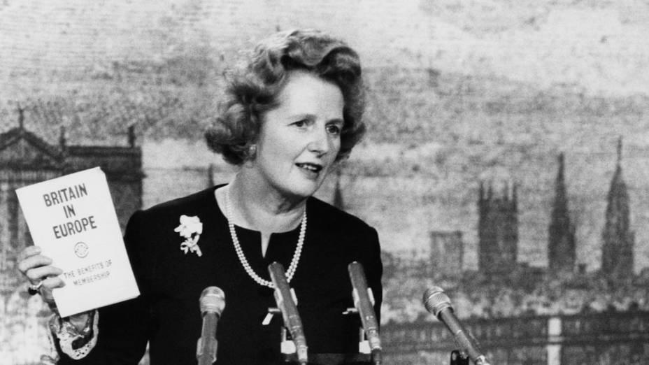 Margaret como líder do Partido Conservador britânico, 1975
