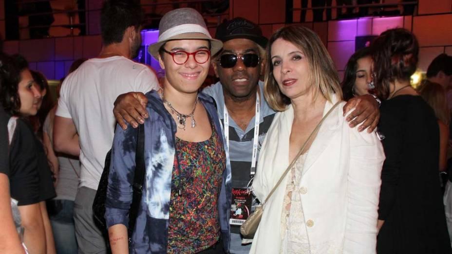 Maria Gadu, Ivo Meirelles e Liege Monteiro no primeiro dia do Rock in Rio, em 23/09/11