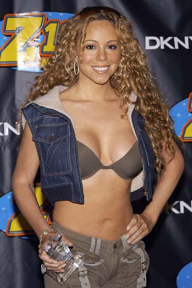 Mariah Carey em 2003, ainda com bom corpo