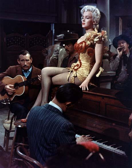 Marilyn Monroe em cena do filme River of no Return em 1954