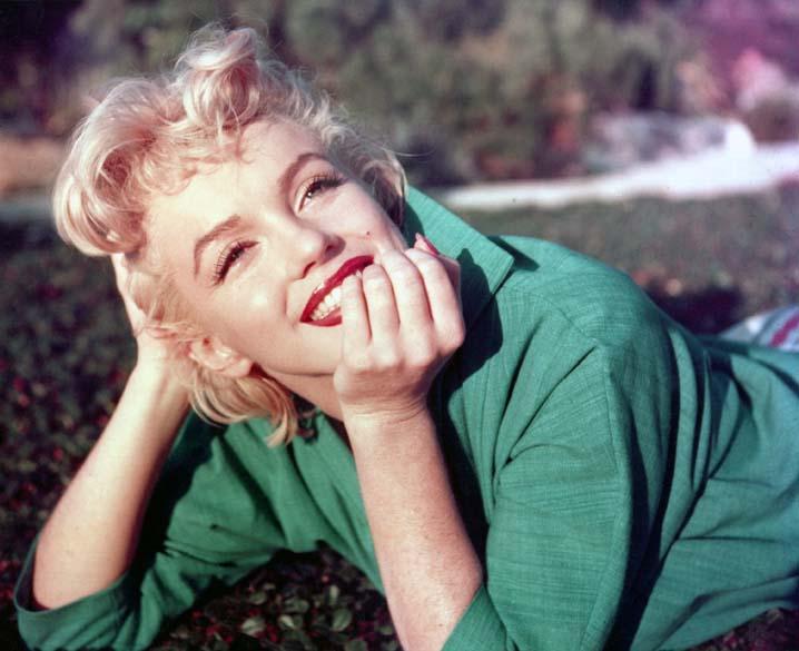 Retrato de Marilyn Monroe feito na Califórnia em 1954