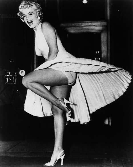 Marilyn Monroe em célebre cena do filme Seven Year Itch em 1955
