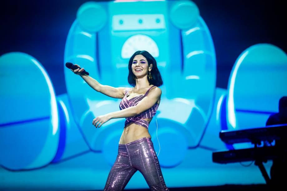 Show da cantora Marina and the Diamonds no primeiro dia do Festival Lollapalooza 2016, em São Paulo
