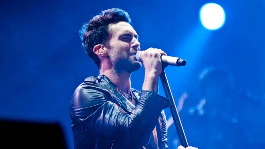 Adam Levine, do Maroon 5, durante o show no palco Mundo, no sexto dia do Rock in Rio, em 01/10/2011