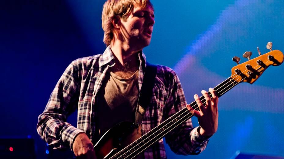 Maroon 5 durante o show no palco Mundo, no sexto dia do Rock in Rio, em 01/10/2011