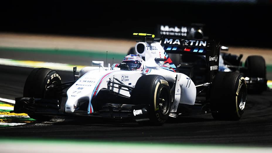 O companheiro de equipe de Felipe Massa, o finlandês Valtteri Bottas no GP Brasil de Fórmula 1