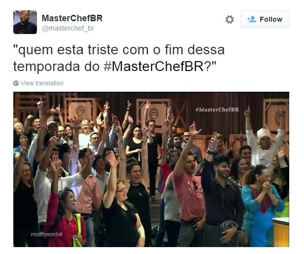 Público chateado com a final do MasterChef