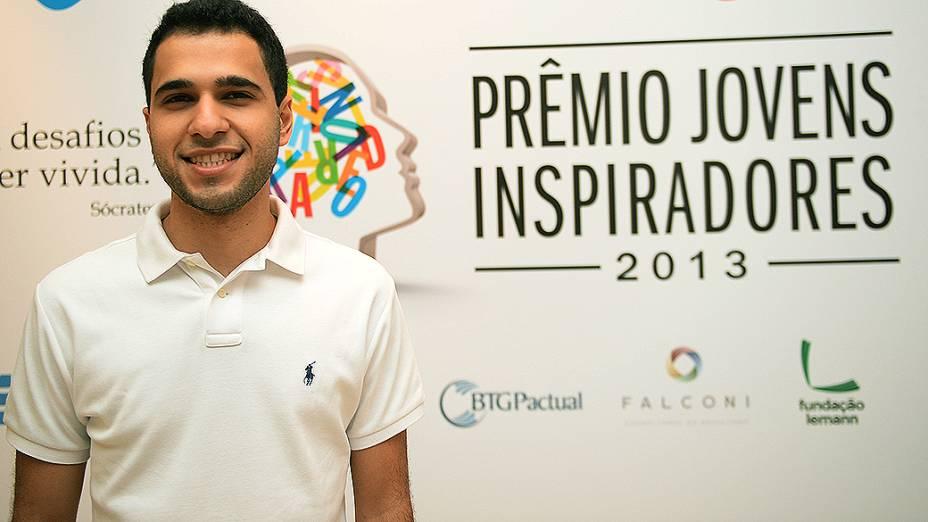 Matheus Goyas, finalista do Prêmio Jovens Inspiradores