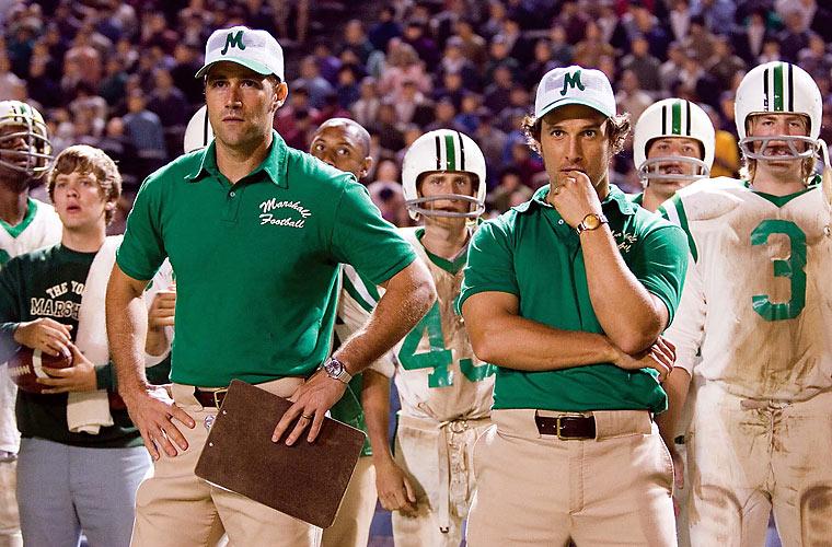 McConaughey no filme <em>Somos Marshall</em>, de MCG, em 2006.