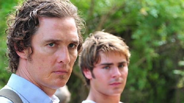 Matthew McConaughey e Zac Efron  no filme The Paperboy