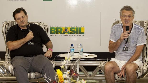 Heitor DAlincourt (esquerda) e Pedro Bial, diretores do filme 'Jorge Mautner - O Filho do Holocausto'