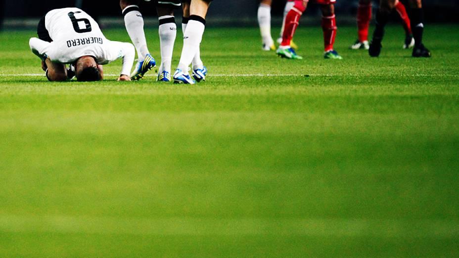 Atacante Guerreiro do Corinthians, durante partida contra o Al Ahly pela semifinal do Mundial de Clubes da Fifa em Toyota