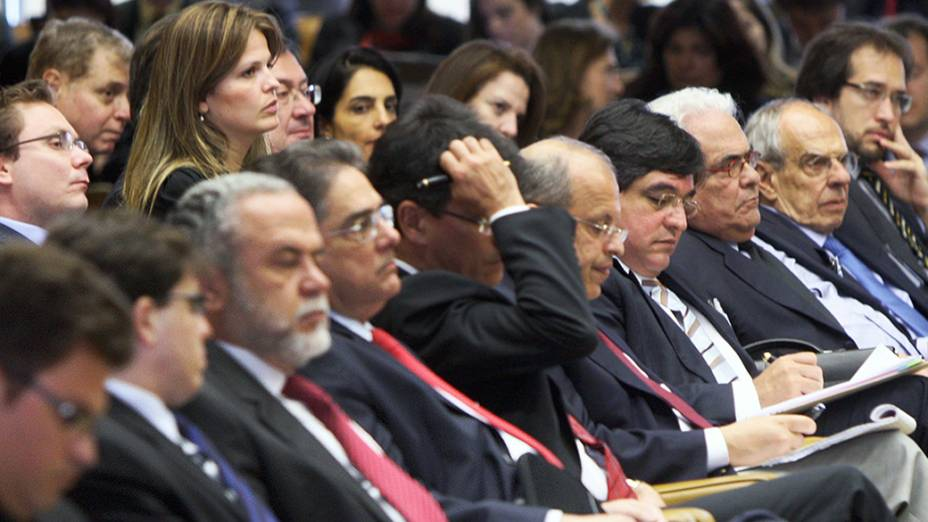 Advogados durante processo do mensalão no Supremo Tribunal Federal (STF)