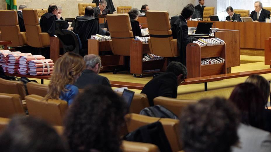 STF retoma sessão plenária com o voto do revisor, o ministro Ricardo Lewandowski<br>