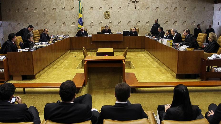 Plenário do Supremo Tribunal Federal (STF) durante julgamento do mensalão