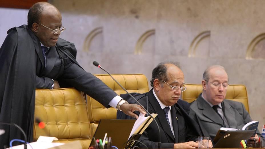 Ministro do Supremo Tribunal Federal (STF), Joaquim Barbosa durante julgamento do mensalão