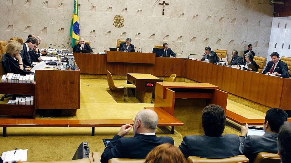 Vista geral do plenário do Supremo Tribunal Federal (STF), em Brasília, durante a 24ª sessão de julgamento do processo do mensalão, em 17/09/2012