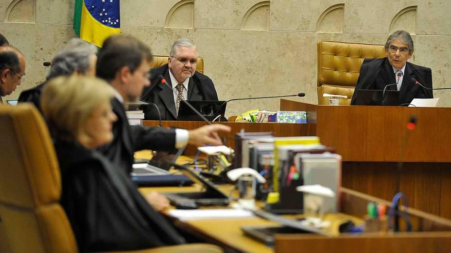Ministros do Supremo Tribunal Federal (STF) durante sessão do julgamento do mensalão, em 19/09/2012