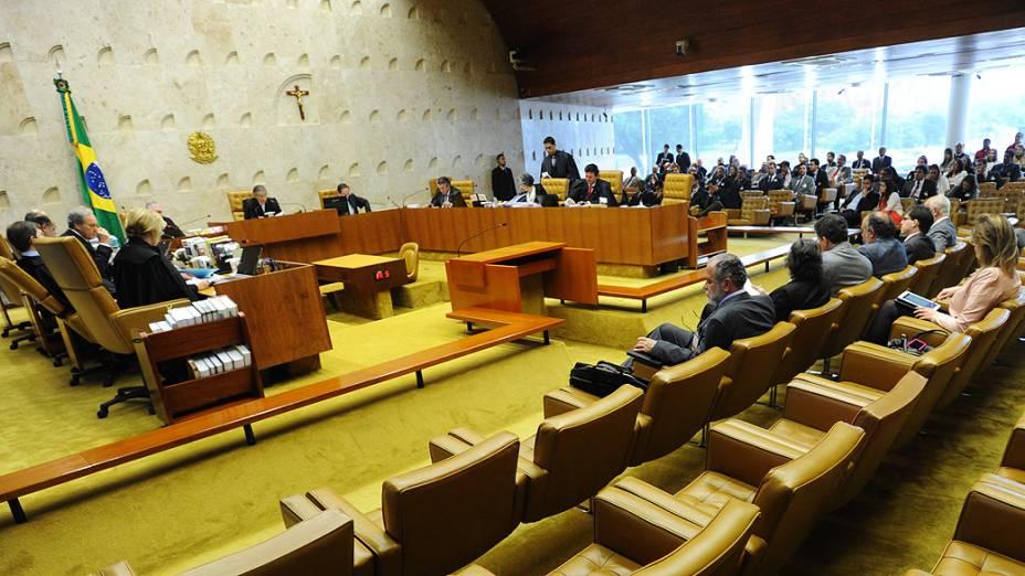 Ministros do Supremo Tribunal Federal (STF) durante sessão do julgamento do mensalão, em 07/11/2012