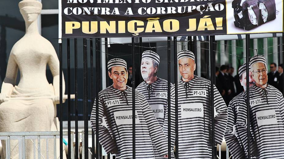 Protestos do lado de fora prédio do Supremo Tribunal Federal (STF)