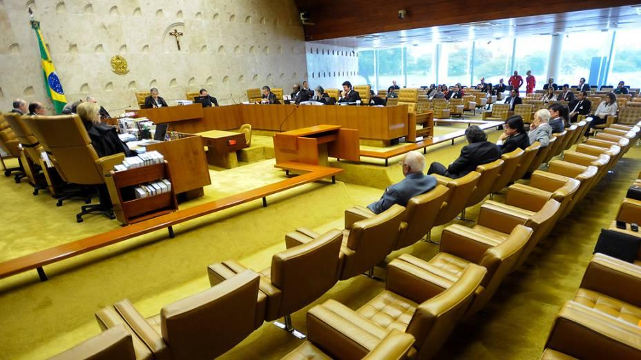 Ministros do Supremo Tribunal Federal (STF) durante sessão do julgamento do mensalão, em 12/11/2012