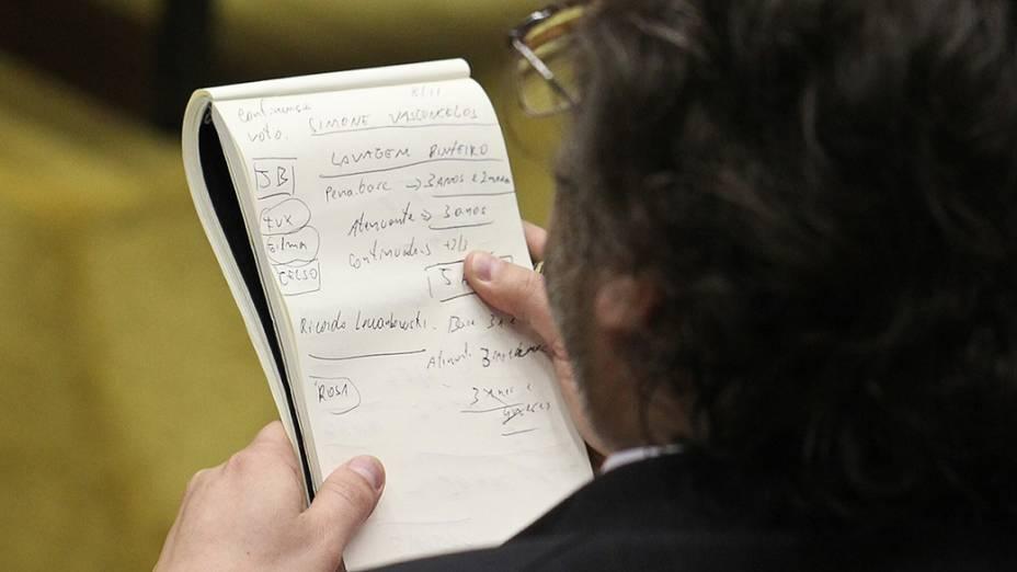 STF retoma cálculo das penas dos réus condenados no processo do mensalão, em 12/11/2012