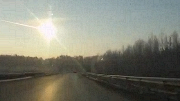 <p>Cinegrafista russo captura momento em que meteorito entra na atmosfera</p>