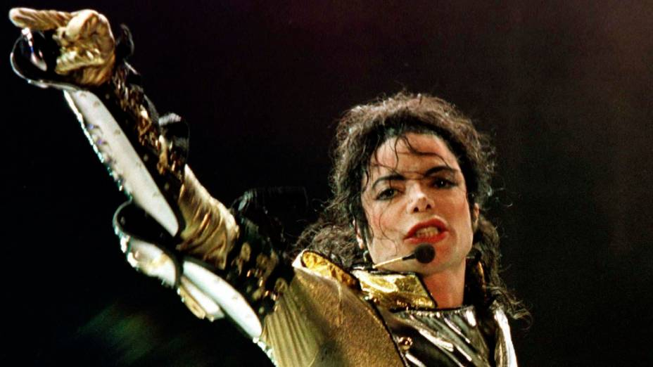 Michael Jackson durante apresentação, em Viena