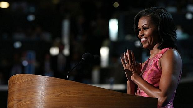 Michelle Obama destacou os valores e convições de seu marido