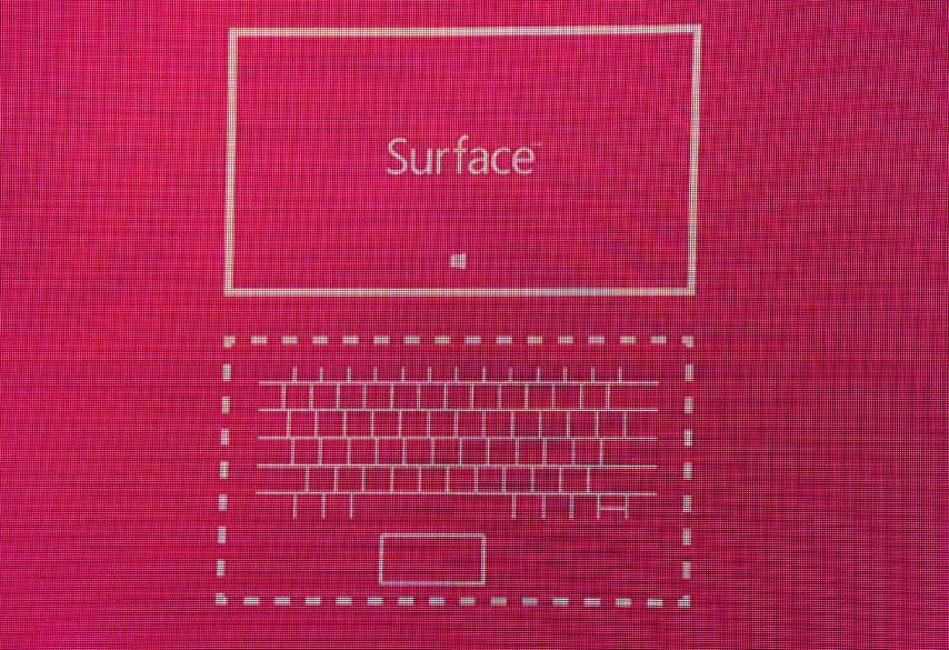 Esquema gráfico do novo tablet da Microsoft, o Surface, que possui 9,3 milímetros de espessura, saída USB 2.0 e pesa 576 gramas